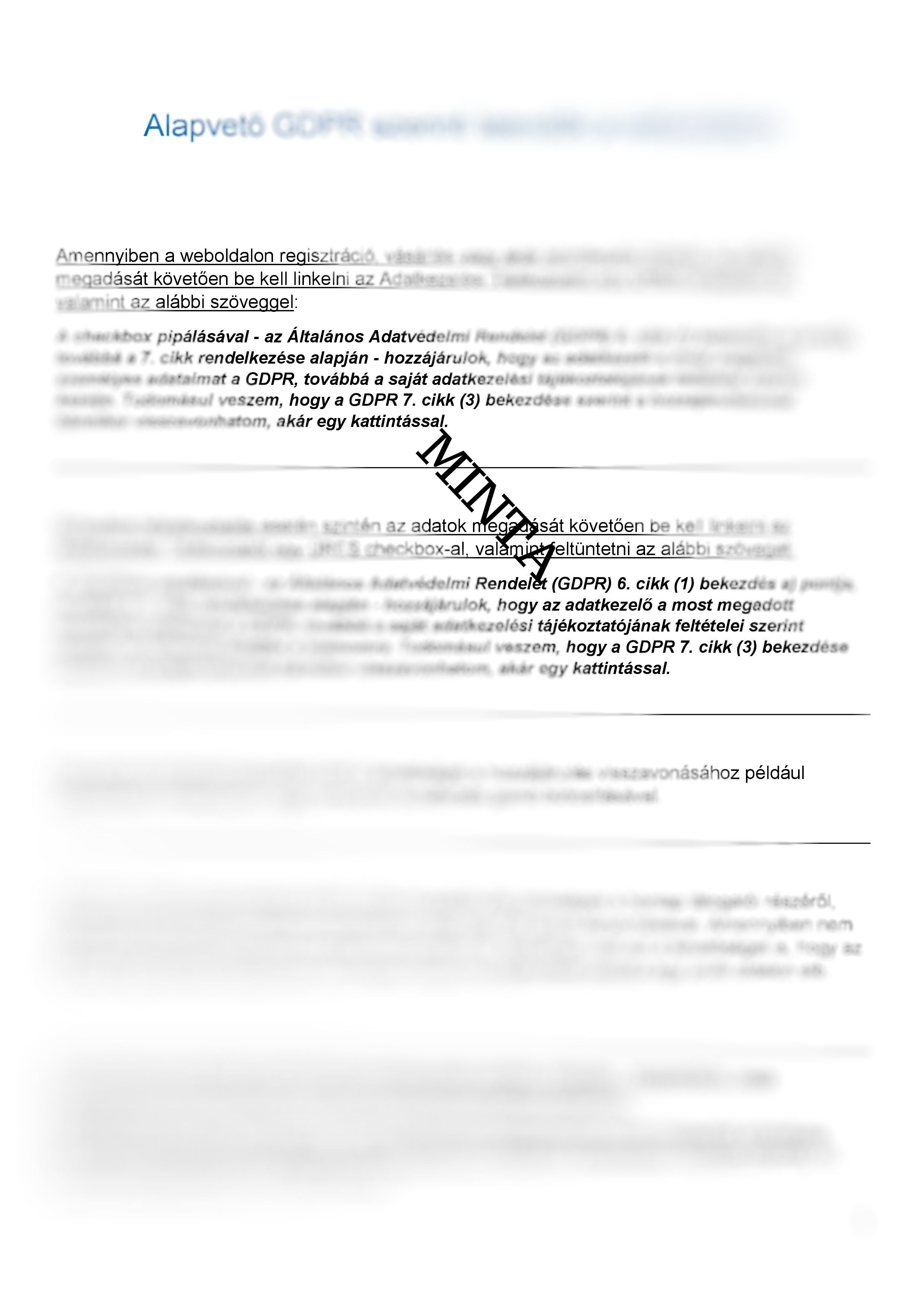 612fbeef6b GDPR ALAP Dokumentum Minta Csomag - MediaStart Online